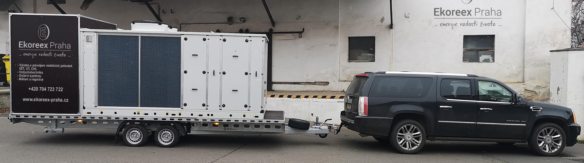 Výroba a pronájem mobilních jednotek VZT, ÚT, CHL